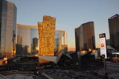 SUNRISE  OVER LAS VEGAS SKYSCRAPES. Las Vegas, Nevada, USA 15. December  2017. Sunrise  over Las Vagas sky scrapes and business.       Photo.Francis Dean/Dean Royalty Free Stock Photo