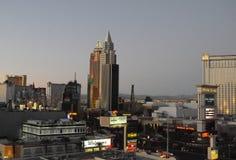 SUNRISE  OVER LAS VEGAS SKYSCRAPES. Las Vegas, Nevada, USA 15. December  2017. Sunrise  over Las Vagas sky scrapes and business.       Photo.Francis Dean/Dean Royalty Free Stock Photos