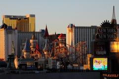 SUNRISE  OVER LAS VEGAS SKYSCRAPES. Las Vegas, Nevada, USA 15. December  2017. Sunrise  over Las Vagas sky scrapes and business.       Photo.Francis Dean/Dean Stock Images