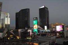 SUNRISE  OVER LAS VEGAS SKYSCRAPES. Las Vegas, Nevada, USA 15. December  2017. Sunrise  over Las Vagas sky scrapes and business.       Photo.Francis Dean/Dean Stock Photography