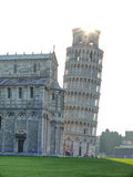 Sunrise over Leaning Tower of Pisa Stock Images
