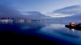 Sunrise over Liverpool River Mersey Stock Image