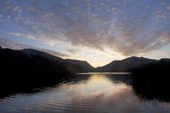 Sunrise over Llyn Padarn Royalty Free Stock Photos