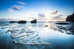 Sunrise over looking ocean Stock Image