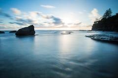 Sunrise over looking ocean Stock Photos