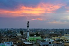 Sunrise over Mandawa town Royalty Free Stock Photography
