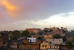 Sunrise over Mandawa town Stock Photos