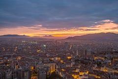 Sunrise over Marseille stock photos