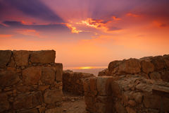 Sunrise over Masada Royalty Free Stock Image