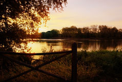 Sunrise over the Maumee River Royalty Free Stock Image