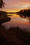 Sunrise over the Maumee River Royalty Free Stock Photos