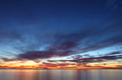 Sunrise over Mediterranean Sea Stock Image