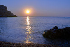 Sunrise over the Mediterranean Sea Royalty Free Stock Images
