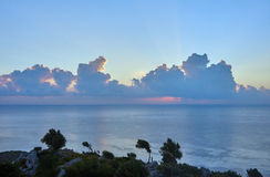 Sunrise over the Mediterranean Sea Royalty Free Stock Photo