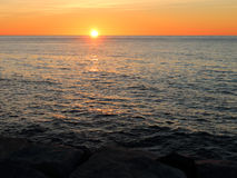 Sunrise over the Mediterranean Sea. In Spain Royalty Free Stock Photo