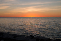 Sunrise over the Mediterranean Sea. In Spain Royalty Free Stock Image