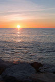 Sunrise over the Mediterranean Sea. In Spain Stock Image