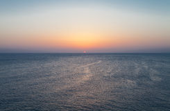 Sunrise over Mediterranean Sea Stock Image