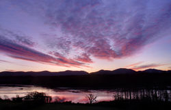 Sunrise over the Menai Straits Royalty Free Stock Photos