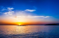 Sunrise over Mirabello Bay, Crete Stock Photography