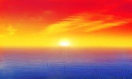 Free Sunrise Over Mist Ocean Stock Images - 62989554