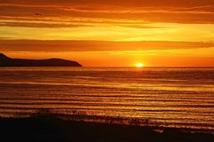 Sunrise over the Moray Firth, Scotland Stock Image