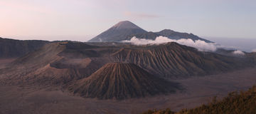 Sunrise over Mount Bromo and the Tengger Caldera in East Java, I Royalty Free Stock Images