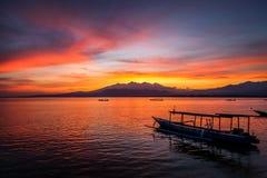 Free Sunrise Over Mount Rinjani. Stock Images - 114006164