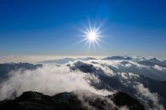 Sunrise over mountain Stock Photo