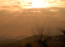 Sunrise over mountain in Huaynamdang National park Stock Photography