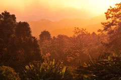 Sunrise over mountain range. At Hua Nam Dang National Park, Chiang Mai, Thailand Stock Photography