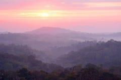 Sunrise over mountain Royalty Free Stock Photo