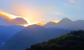 Sunrise over mountain in Unzen, Kyushu,  Japan Stock Image