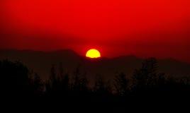 Sunrise over mountains. Stock Photos