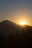 Sunrise over the mountains Royalty Free Stock Image