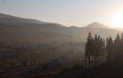 Sunrise over the mountains Stock Photos