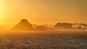 Sunrise over the mountains and Ocean