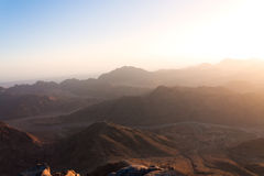 Sunrise over the mountains of Sinai Royalty Free Stock Photos