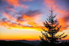 Sunrise over the mountains Royalty Free Stock Photography