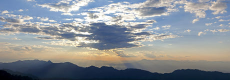 Sunrise over the mountains, Thailand Royalty Free Stock Photo