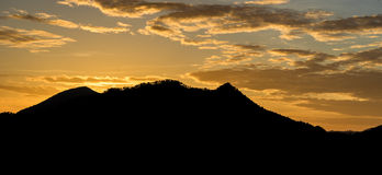 Sunrise over Moutain with Colorful sky Royalty Free Stock Image