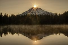 Mt Hood Sunburst Reflections