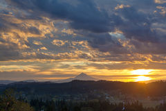 Sunrise Over Mt Hood Royalty Free Stock Photos