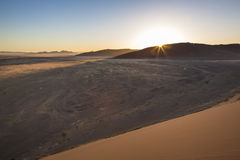 Sunrise. Over the Namib desert, Namibia, Southern Africa royalty free stock photography