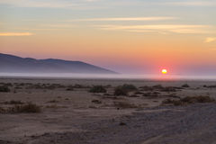 Sunrise over The Namib desert, roadtrip in the wonderful Namib Naukluft National Park, travel destination in Namibia, Africa. Morn Royalty Free Stock Photography