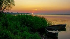 Sunrise over Nero's lake in Rostov stock footage