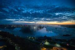 Sunrise over Niagara. Water fall near Toronto in Canada Royalty Free Stock Photos