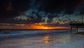 Sunrise over the North Sea. Royalty Free Stock Image