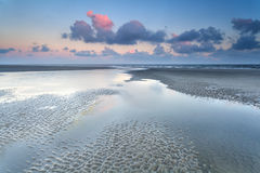 Sunrise over North sea at low tide Stock Image