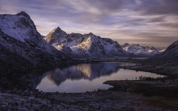 Sunrise over Norway mountains Royalty Free Stock Image